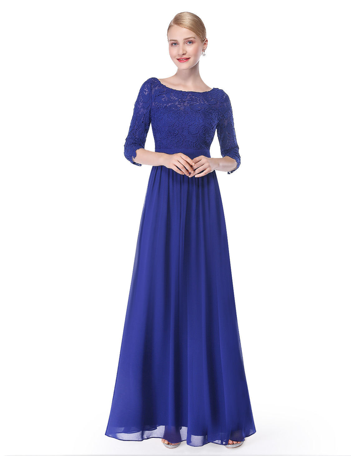 Ever-Pretty Long Lace Mother\'s Day Party Dresses Royal Blue Formal ...