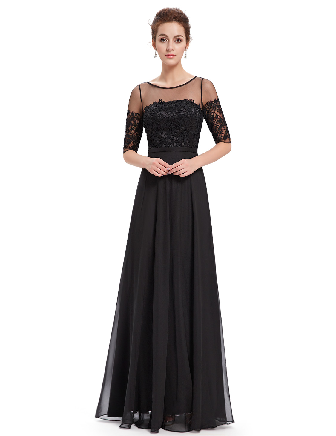 Ever-Pretty Women Lace Long Sleeve Dresses Cocktail Party Evening ...