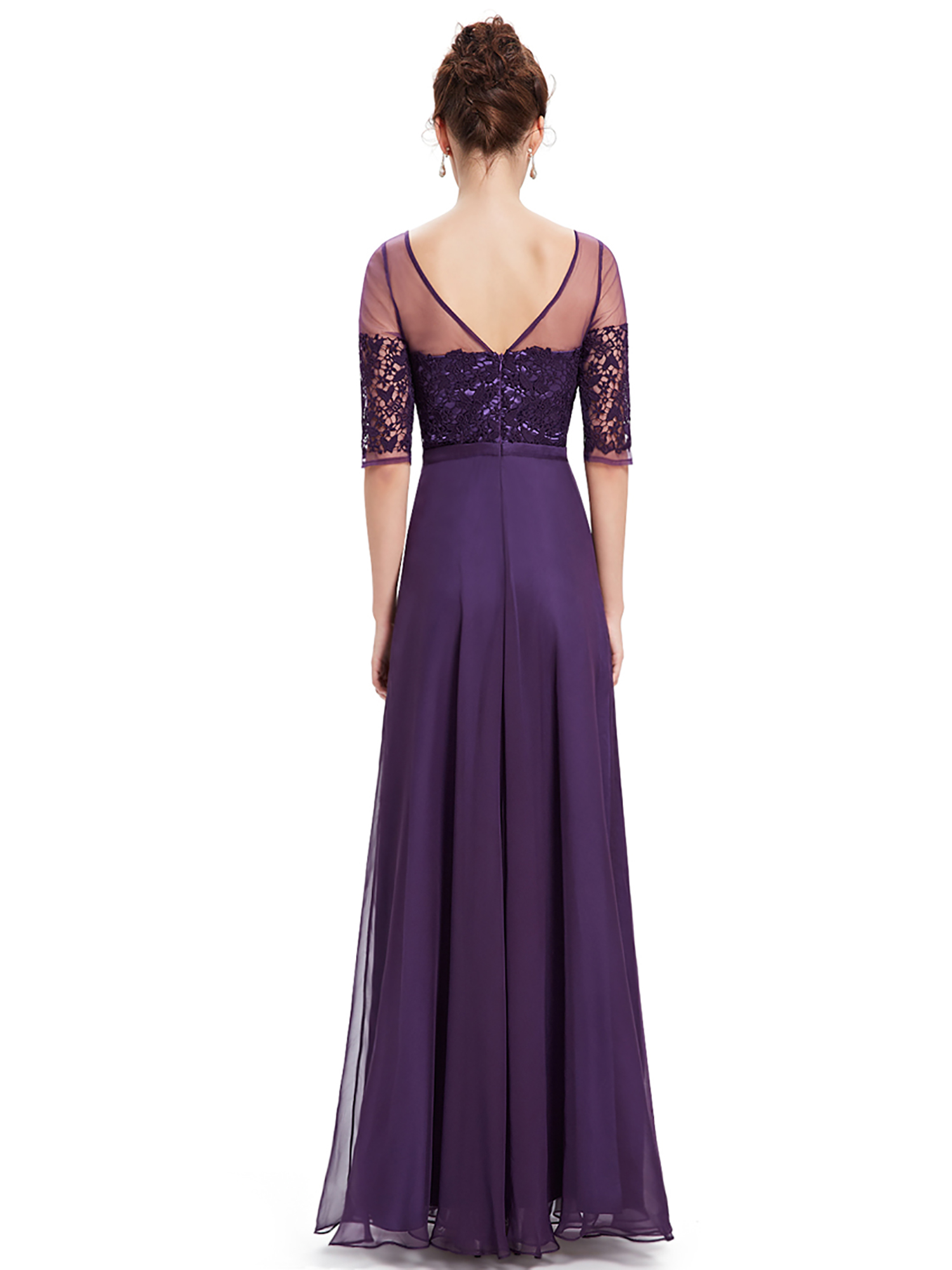 Ever-Pretty Long Evening Dress Bridesmaid Maxi Half Sleeve ...
