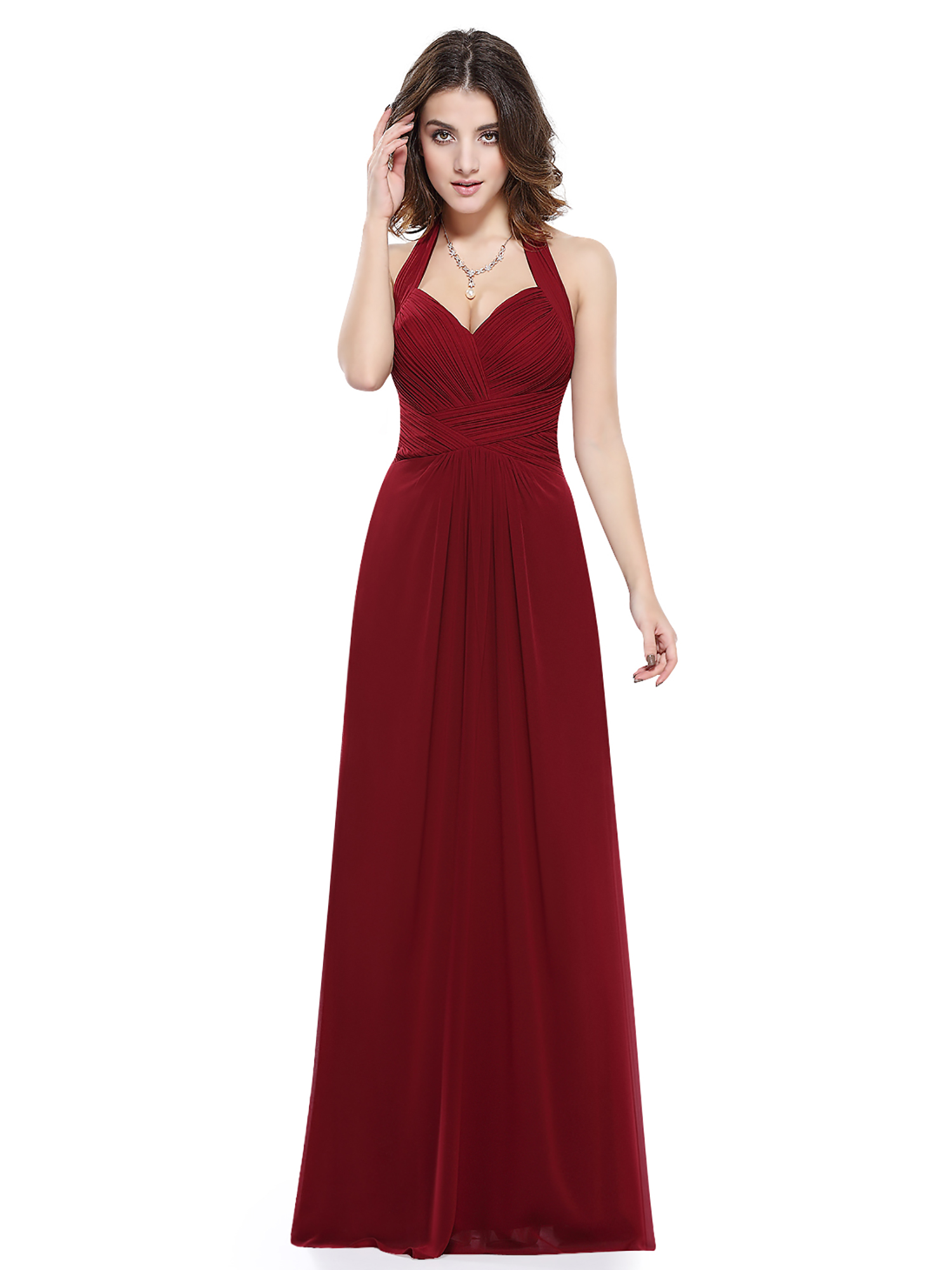 Women 39 s maxi halter bridesmaid dress evening wedding prom for Wedding and evening dresses
