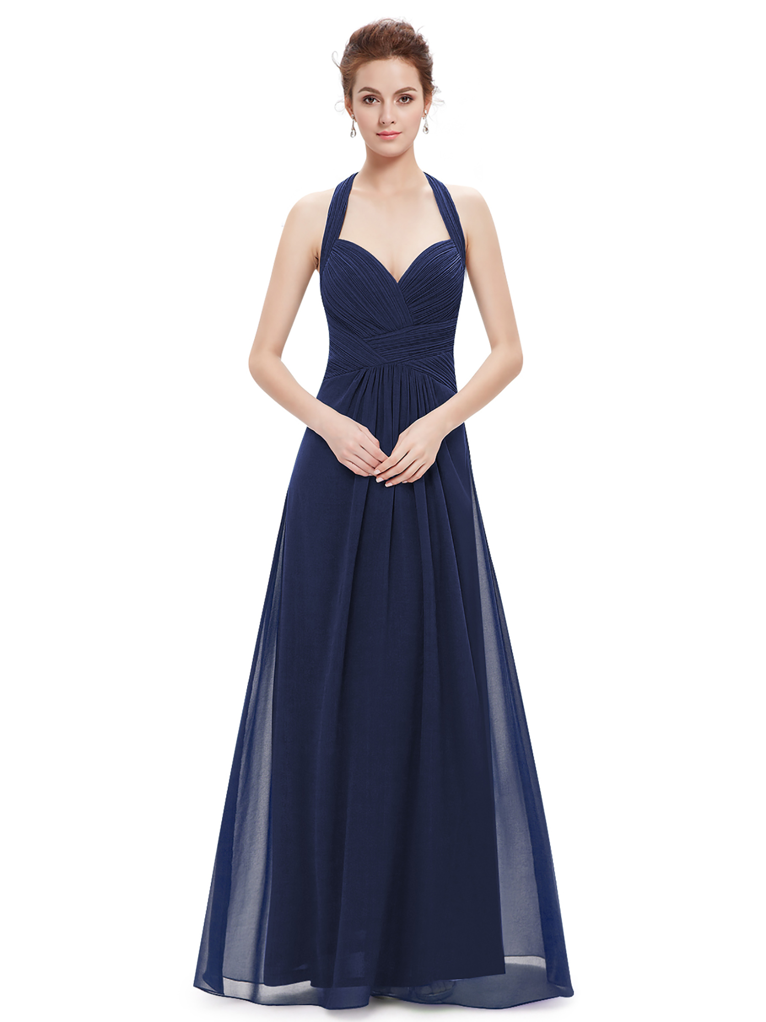 Women's Maxi Halter Bridesmaid Dress Evening Wedding Prom ...