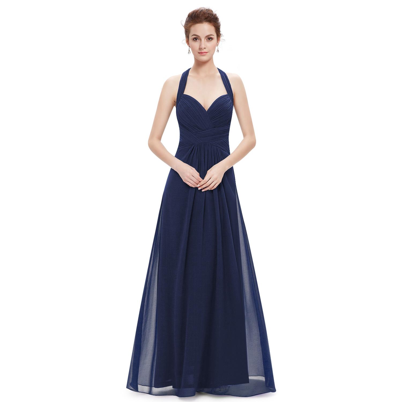 Women Long Bridesmaid Dress Evening Halter Prom Maxi Dress