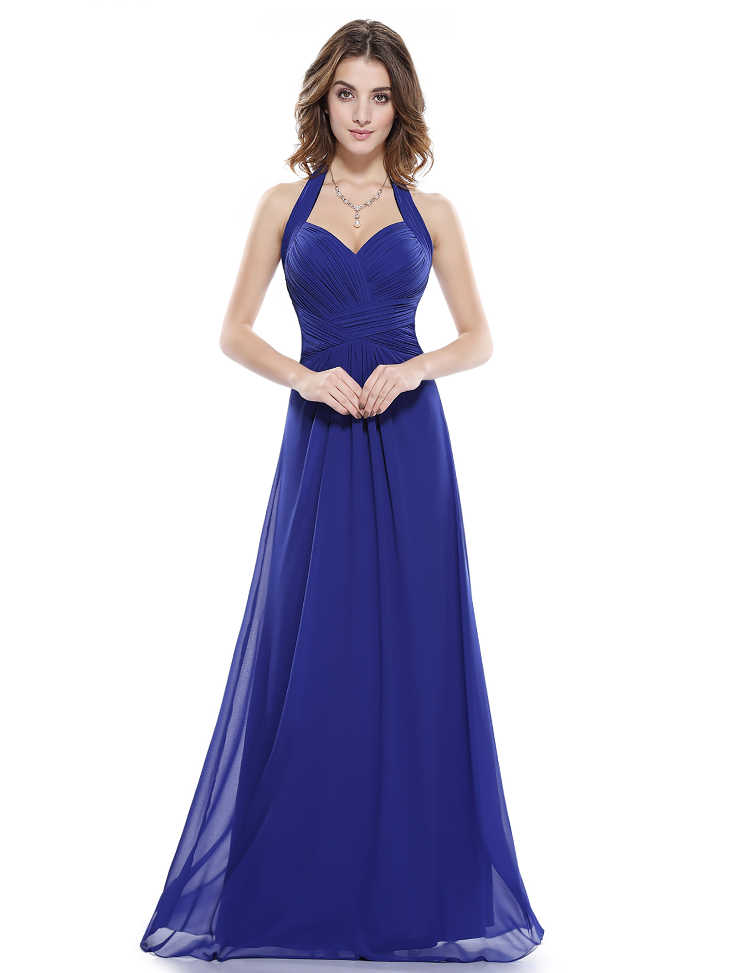 Women 39 s maxi halter bridesmaid dress evening wedding prom for Wedding party dresses for women