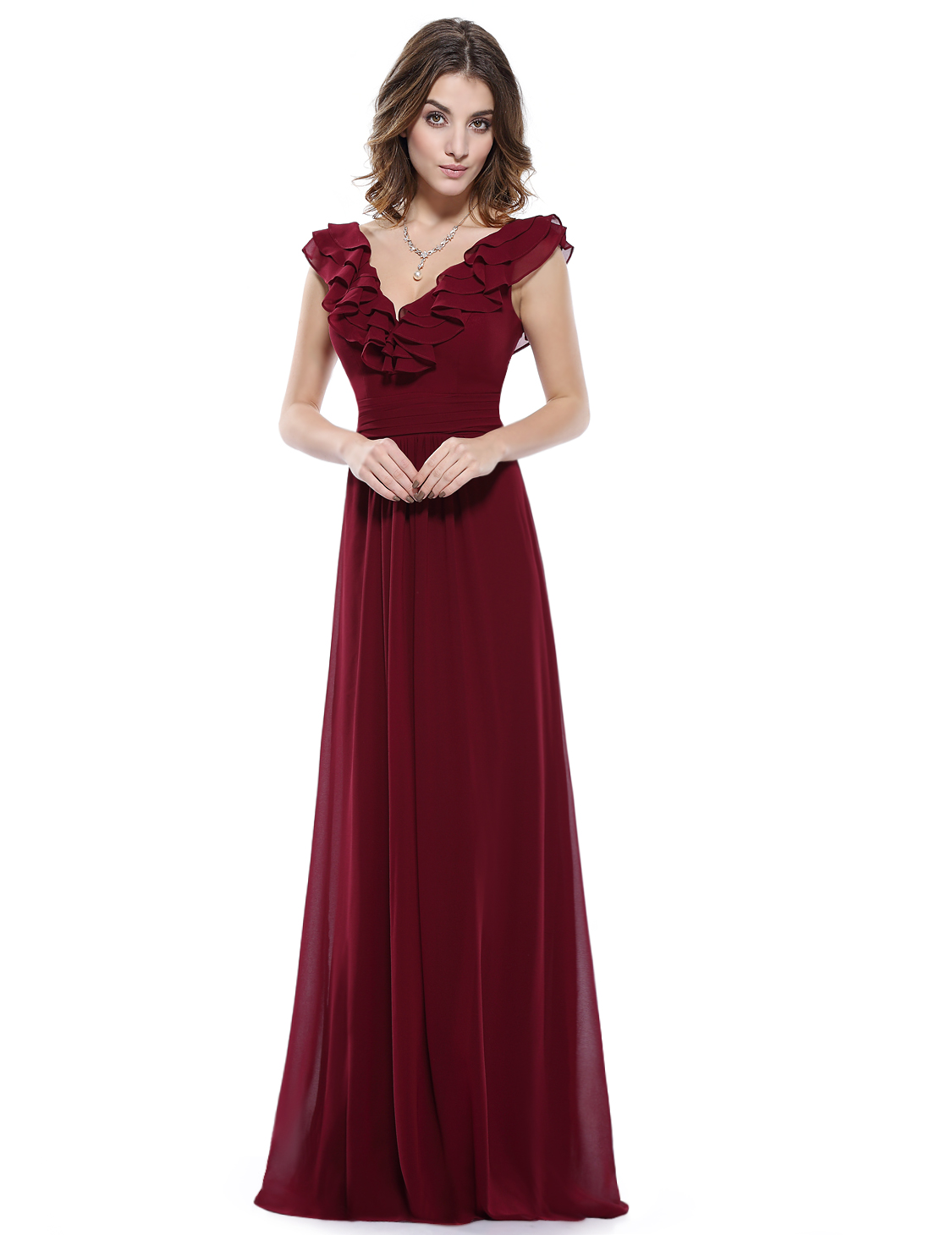 ever pretty women long formal evening prom gown wedding