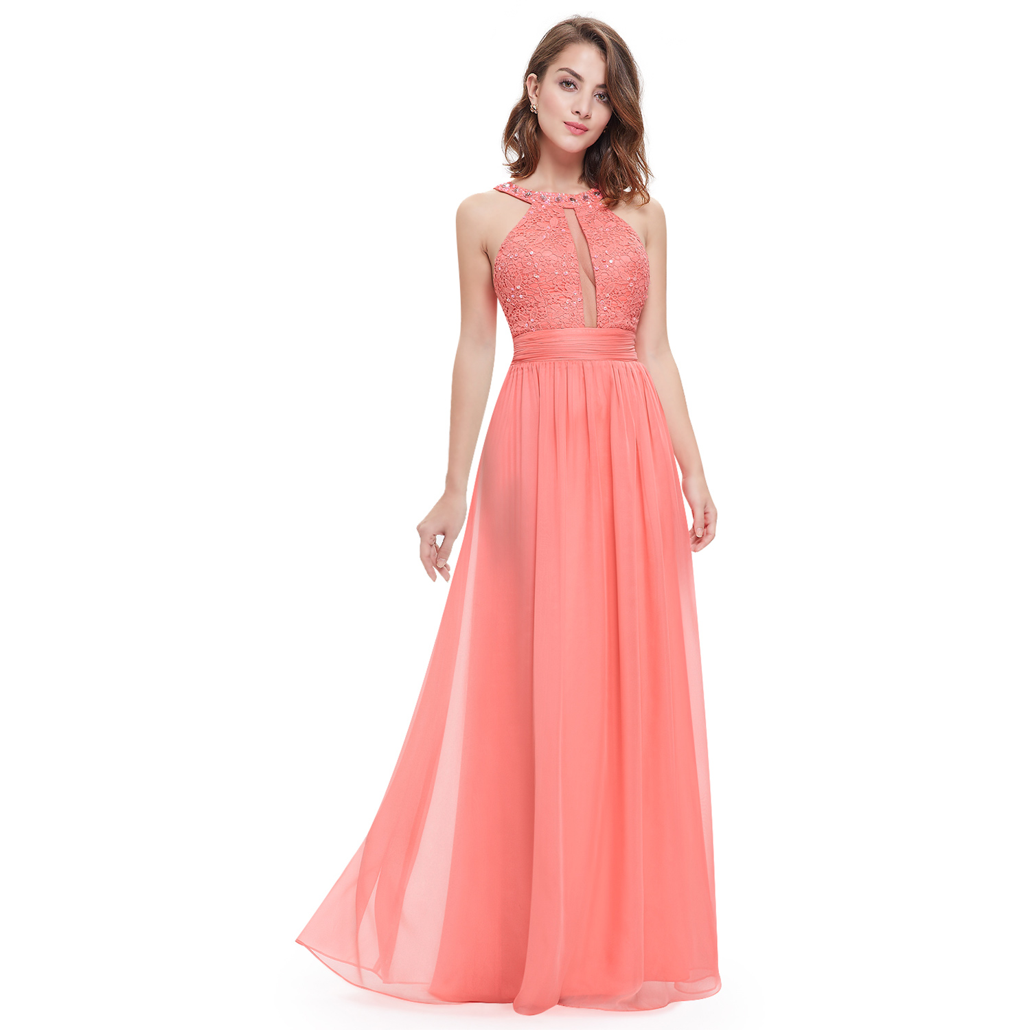 Womens Halter Bridesmaid Dresses Long Homecoming Prom Gown 08572 ...