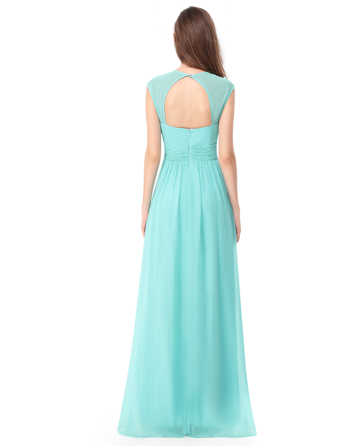 Ever Pretty Long Ball Gown Formal Evening V-neck Party Bridesmaid ...