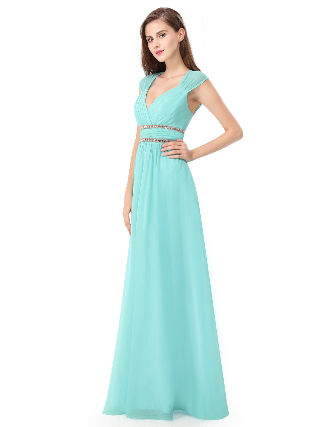 Ever Pretty UK Long Evening Gown Formal V-neck Party Bridesmaid ...