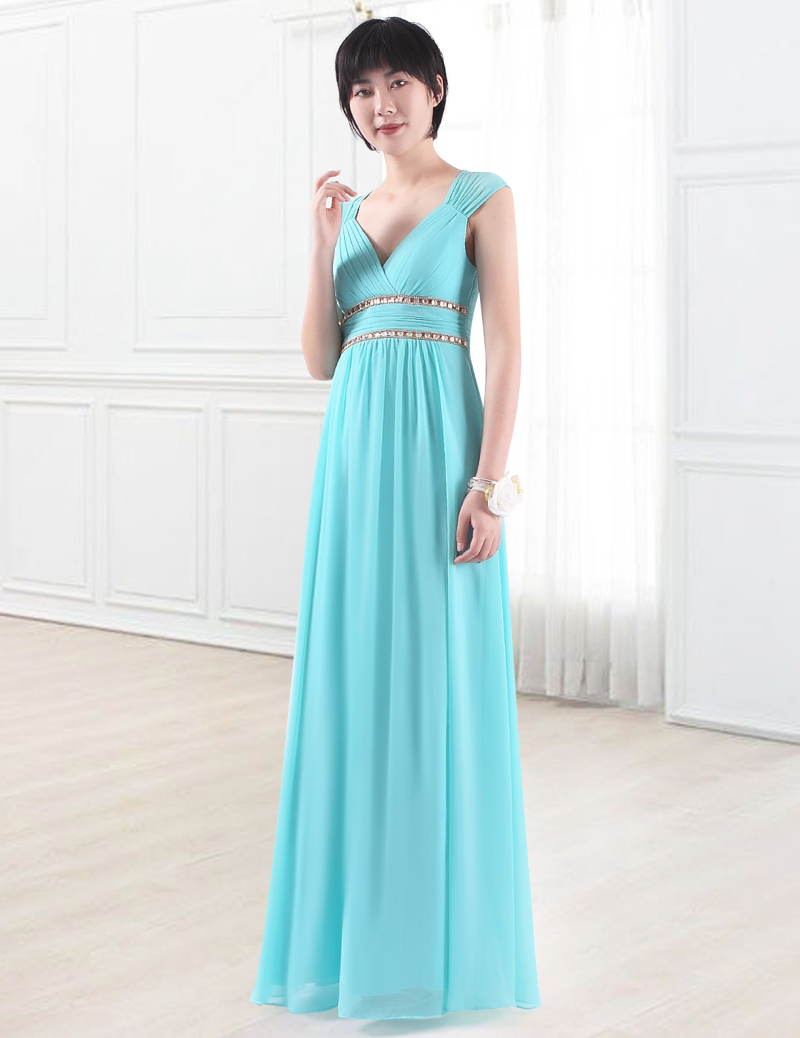 Evening Prom Dress Beaded Wedding Formal Bridesmaid Party Gown 08697 ...