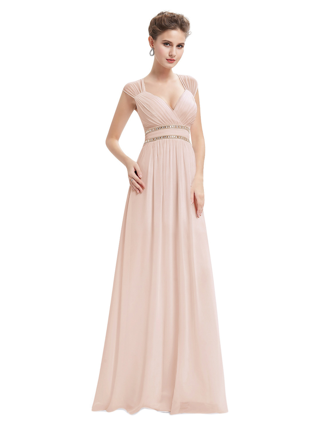Ever pretty blush pink bridesmaid dress long chiffon formal ever pretty blush pink bridesmaid dress long chiffon ombrellifo Image collections