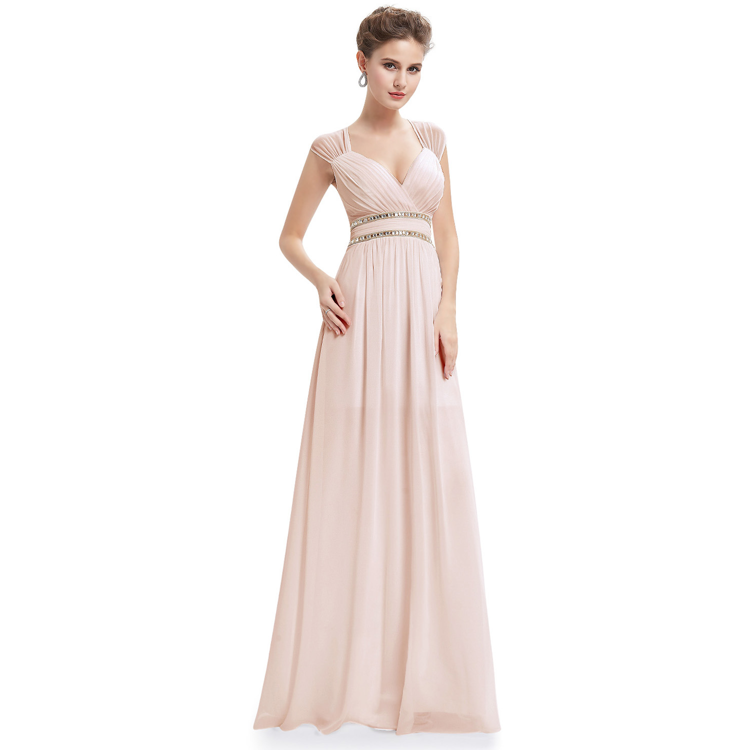 Ever-pretty V Neck Long Maxi Sleeveless Evening Prom Gown Dress ...