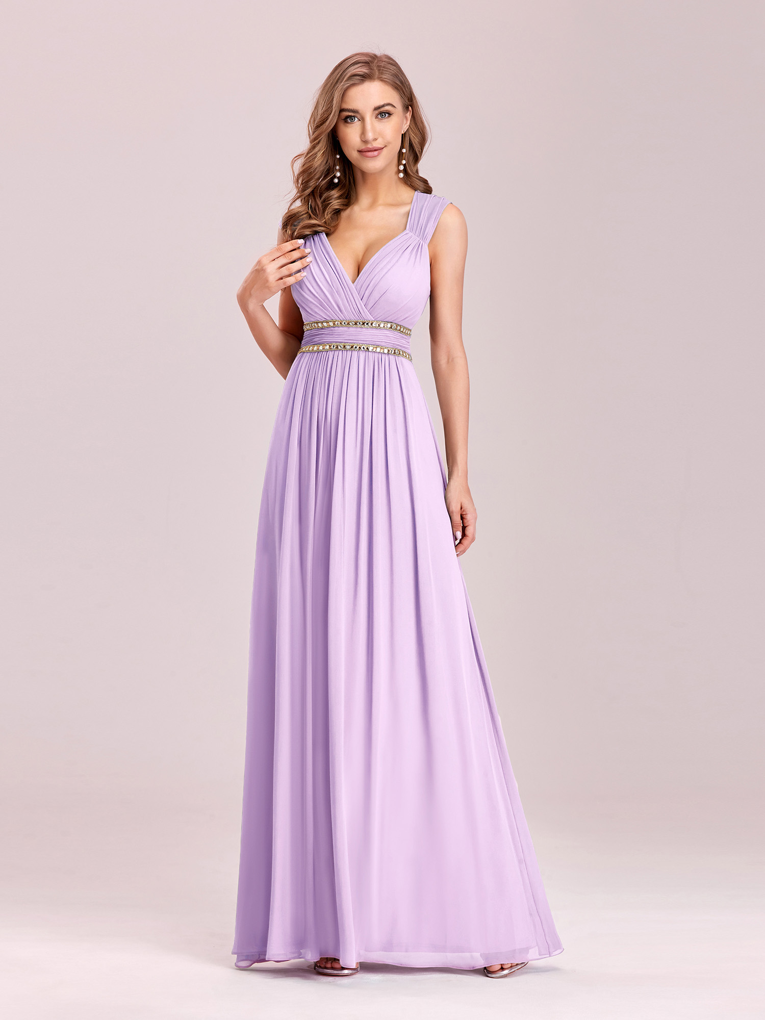 Ever-Pretty Long Beaded Evening Cocktail Formal Party Bridesmaid ...
