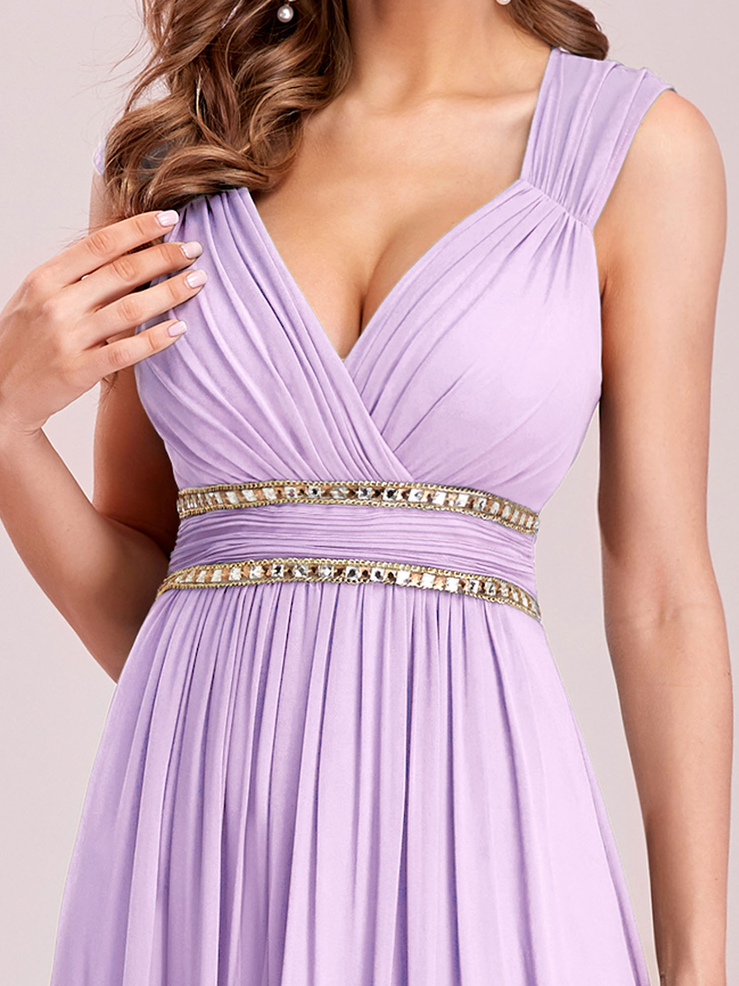Ever-Pretty Long Chiffon Evening Formal Ball Gowns Lavender ...