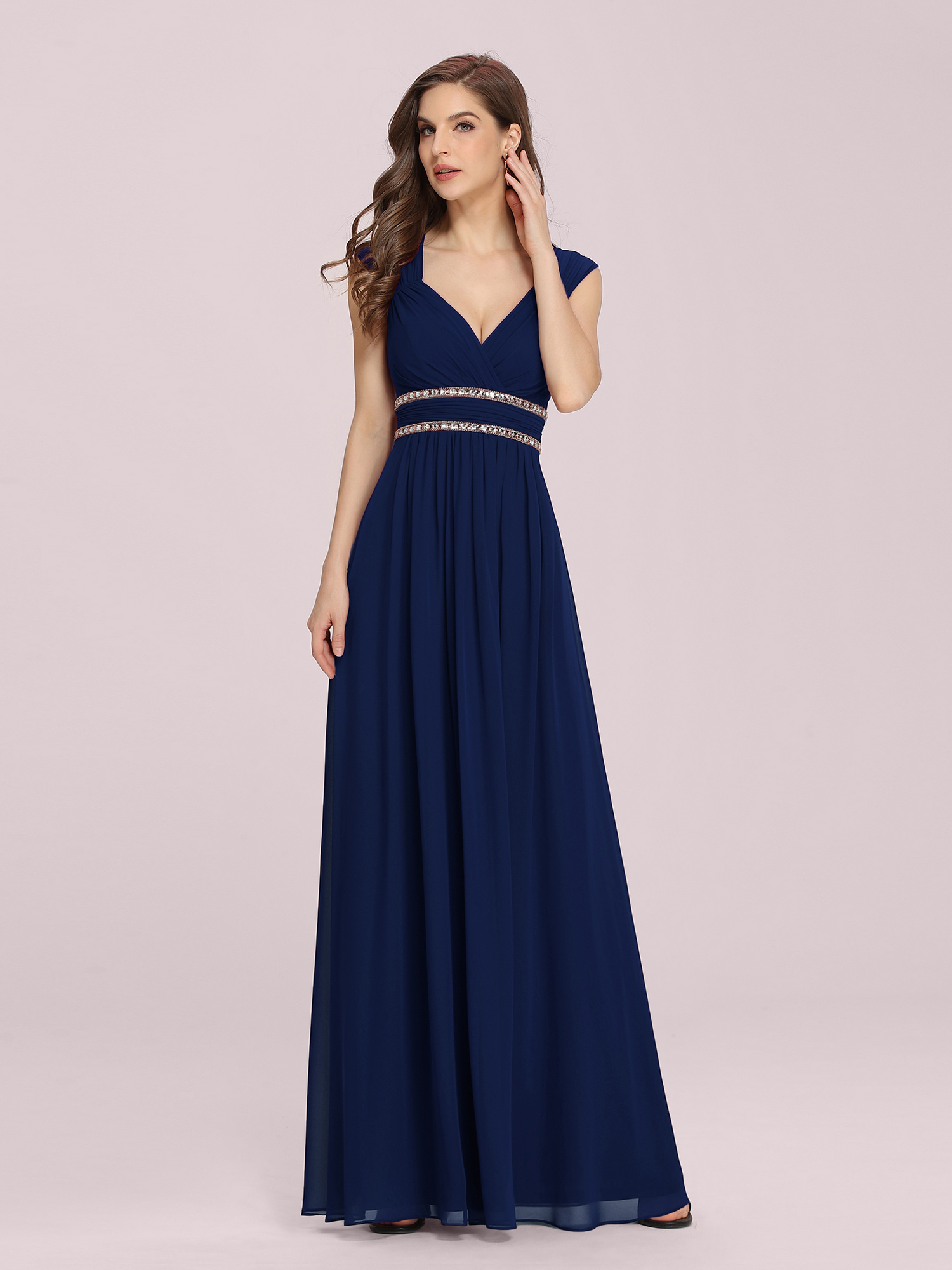 7c5999168a7 Ever Pretty Long Ball Evening Dresses V-neck Navy Blue Bridesmaid Dresses  08697