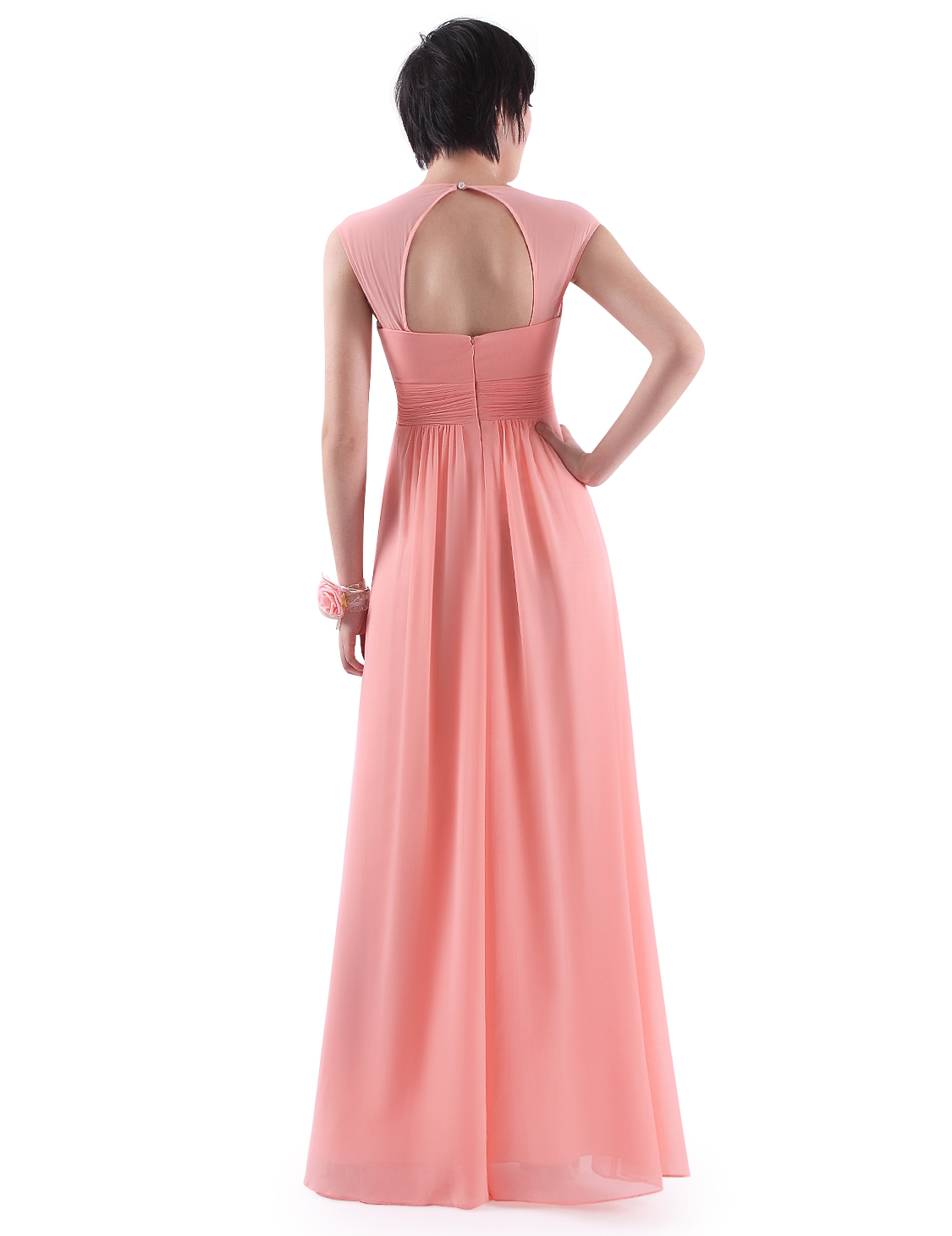 Ever-Pretty UK Chiffon V-Neck Long Bridesmaid Wedding Dresses Prom ...