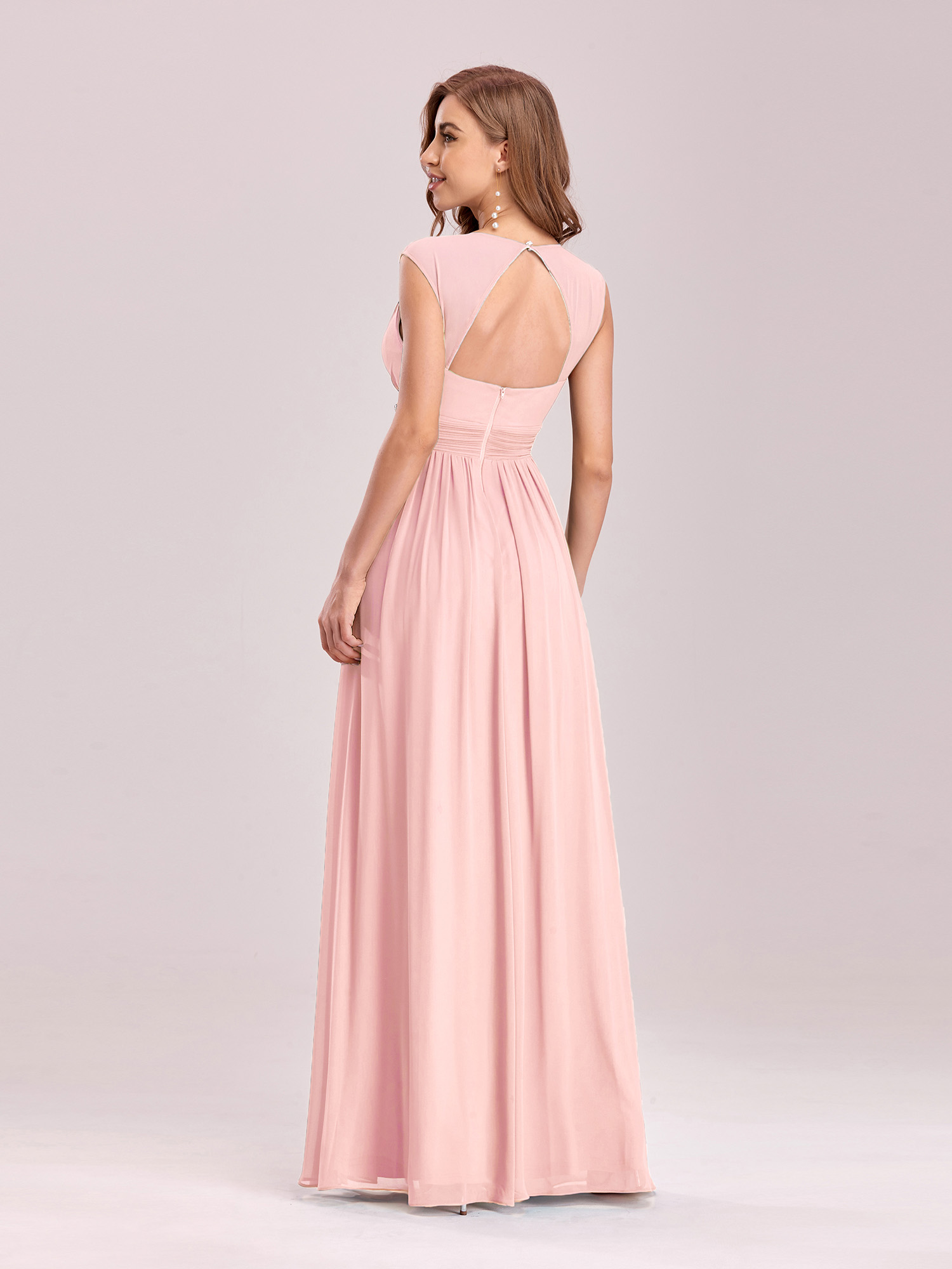 Ever Pretty Long Chiffon Evening Formal Pink Party Ball Gowns ...