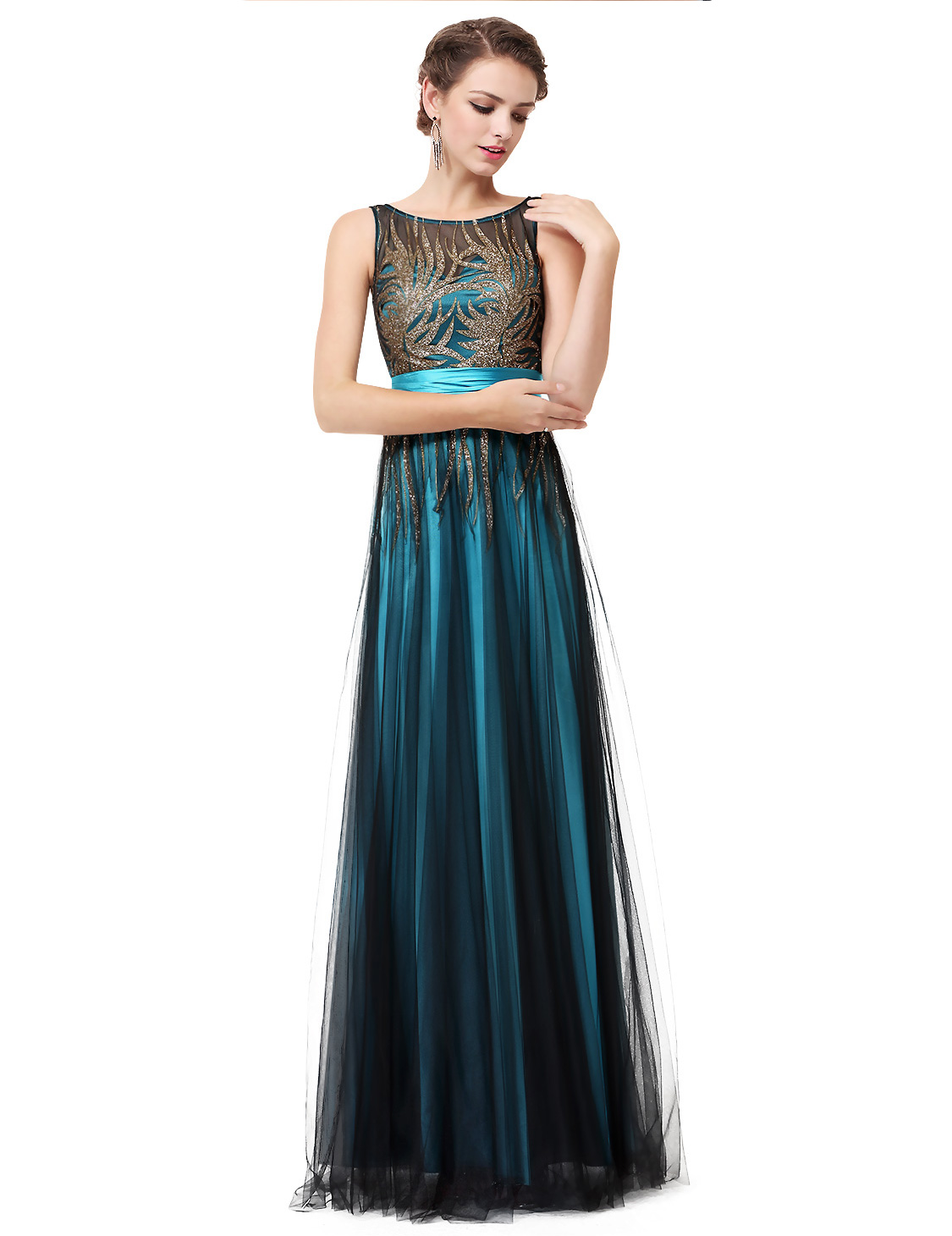 Details about Ever Pretty Long Women Sequins Pageant Evening Dresses Formal  Ball Gowns 08740 58773a6e7734