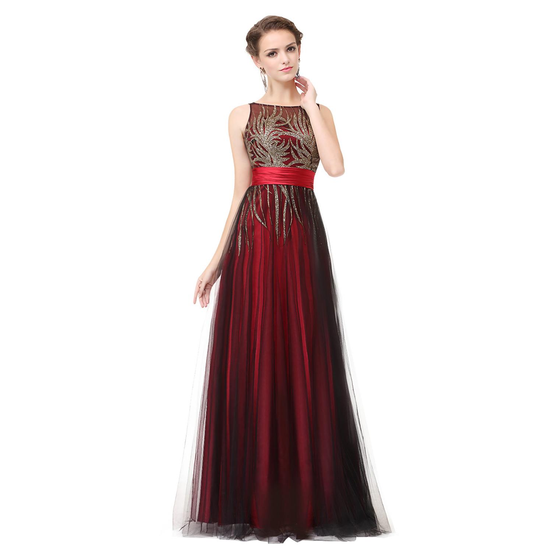 Ever-Pretty Mesh Evening Dress Sleeveless Shinny Long Prom ...