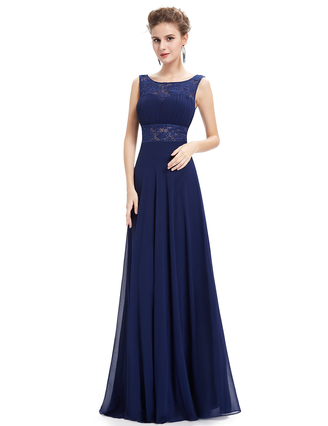 e91c34352c334 Ever-Pretty US Long Evening Dresses Lace Backless Bridesmaid Prom ...