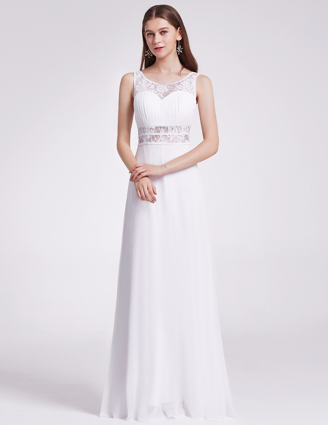 Ever-Pretty Long Lace Chiffon Wedding Evening Formal Party Dresses ...