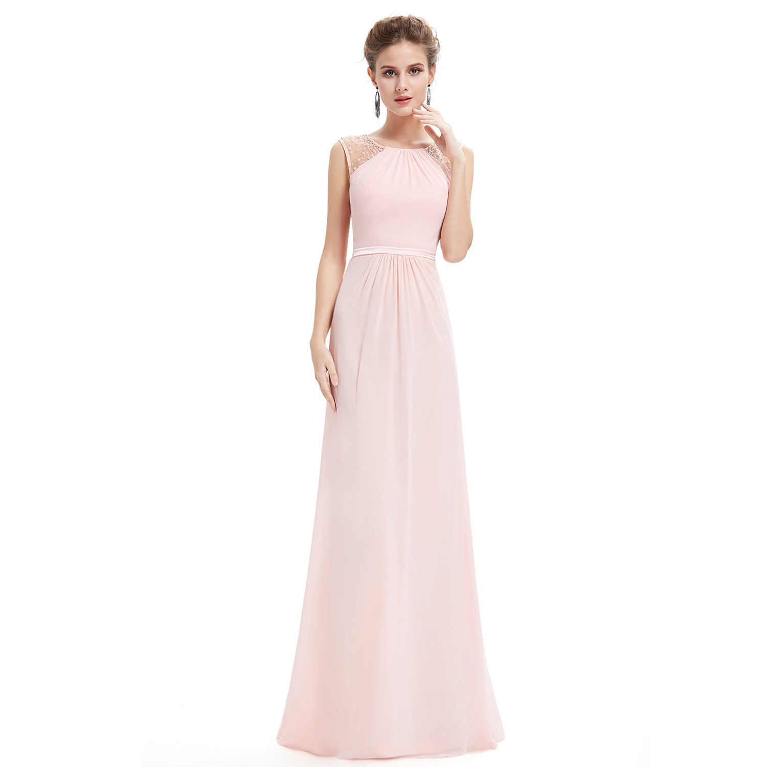Ever-Pretty Long Evening Ball Gowns Beaded Chiffon Bridesmaid ...