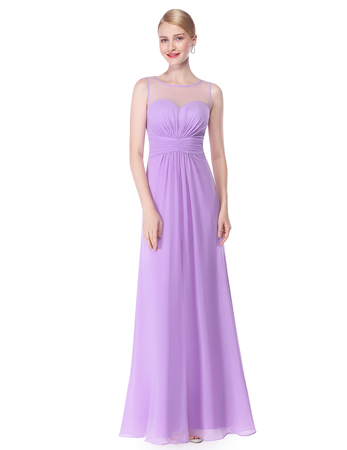 UK Ever-Pretty Long Chiffon Bridesmaid Formal Dresses Gown Party ...