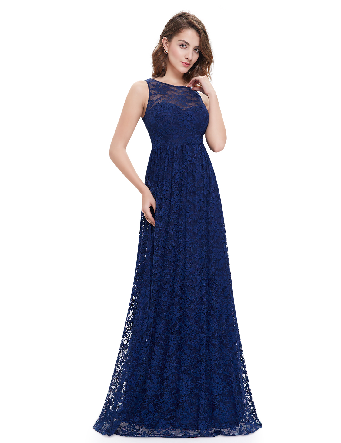 Ever Pretty Mother Of Bride Dresses Navy Blue Lace Evening Ball Prom