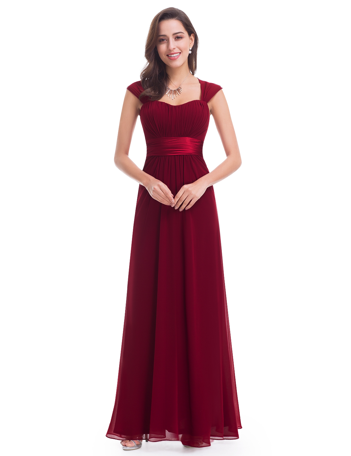 5af68425ac Ever-pretty UK Long Women Burgundy Prom Gowns Formal Evening Party ...