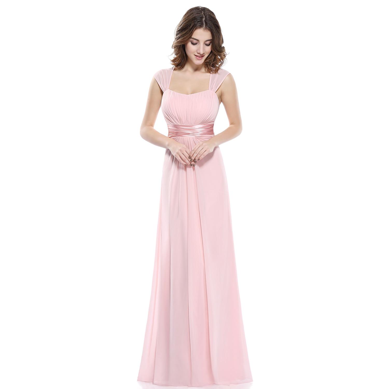 Ever pretty pink chiffon long bridesmaid wedding dresses for Ever pretty wedding dresses
