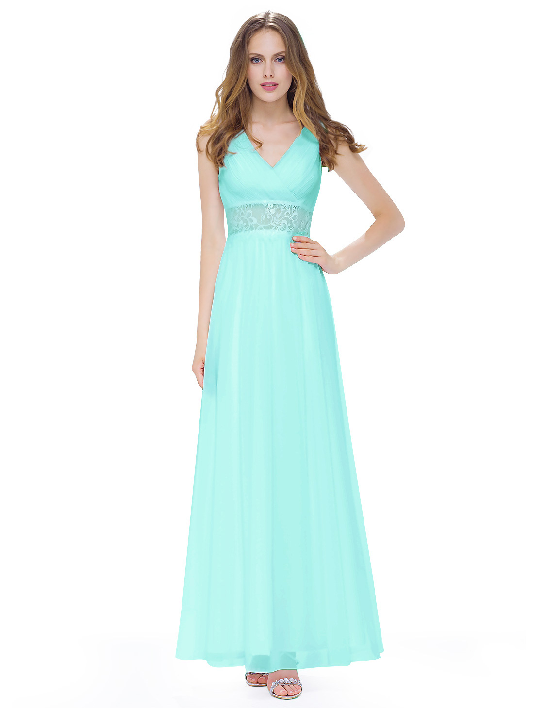 Ever Pretty V-Neck Long Bridesmaid Evening Formal Dresses Party Prom ...