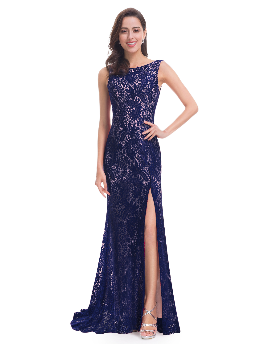 Ever-Pretty-Sleeveless-Long-Formal-Evening-Dresses-Lace-Party-Prom-Dress-08859 thumbnail 6