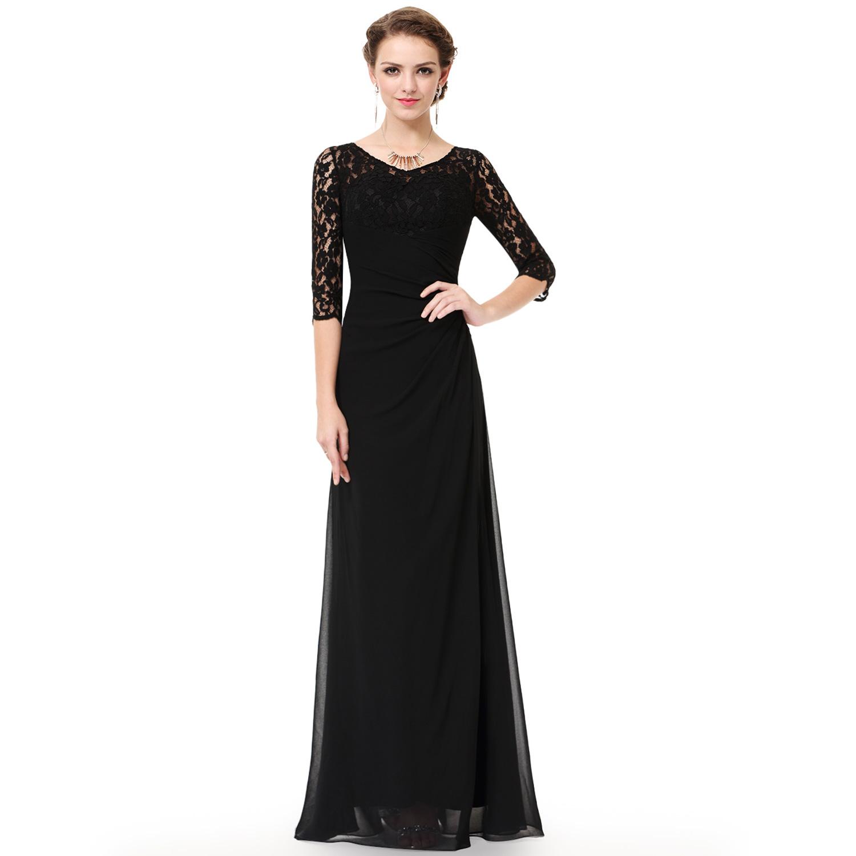 Ever Pretty Women Long Black Bridesmaid Evening Formal