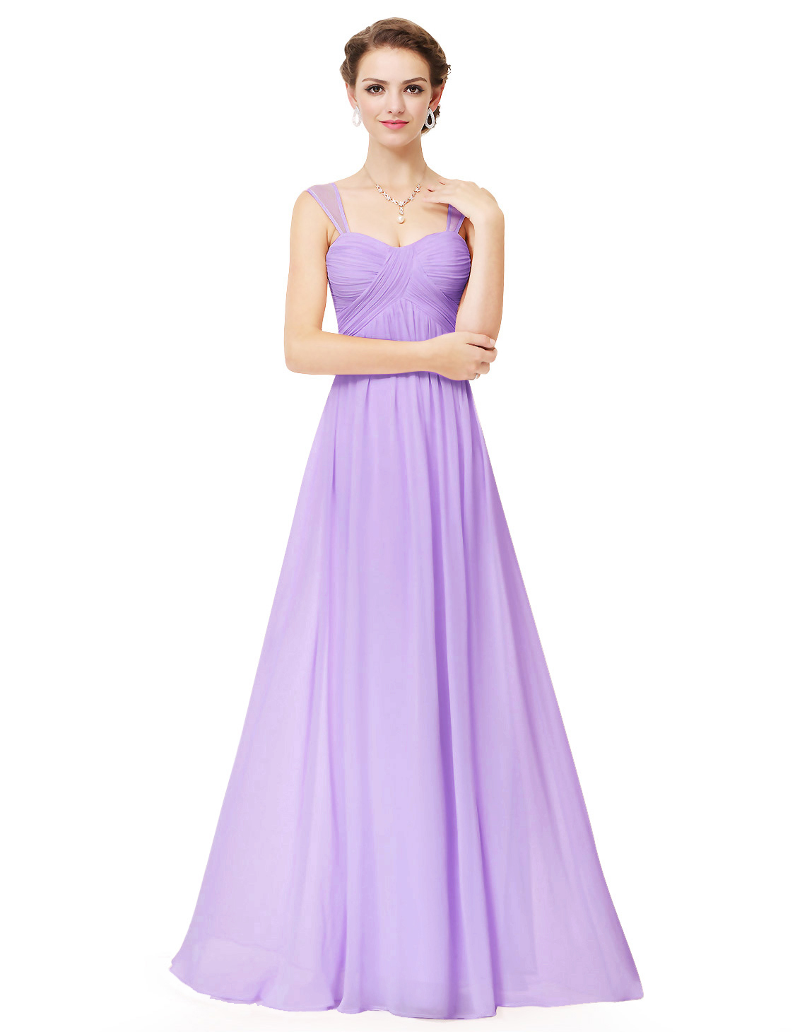 UK Lomg Women Straps Wedding Bridesmaid Dress Evening Ball Gown ...