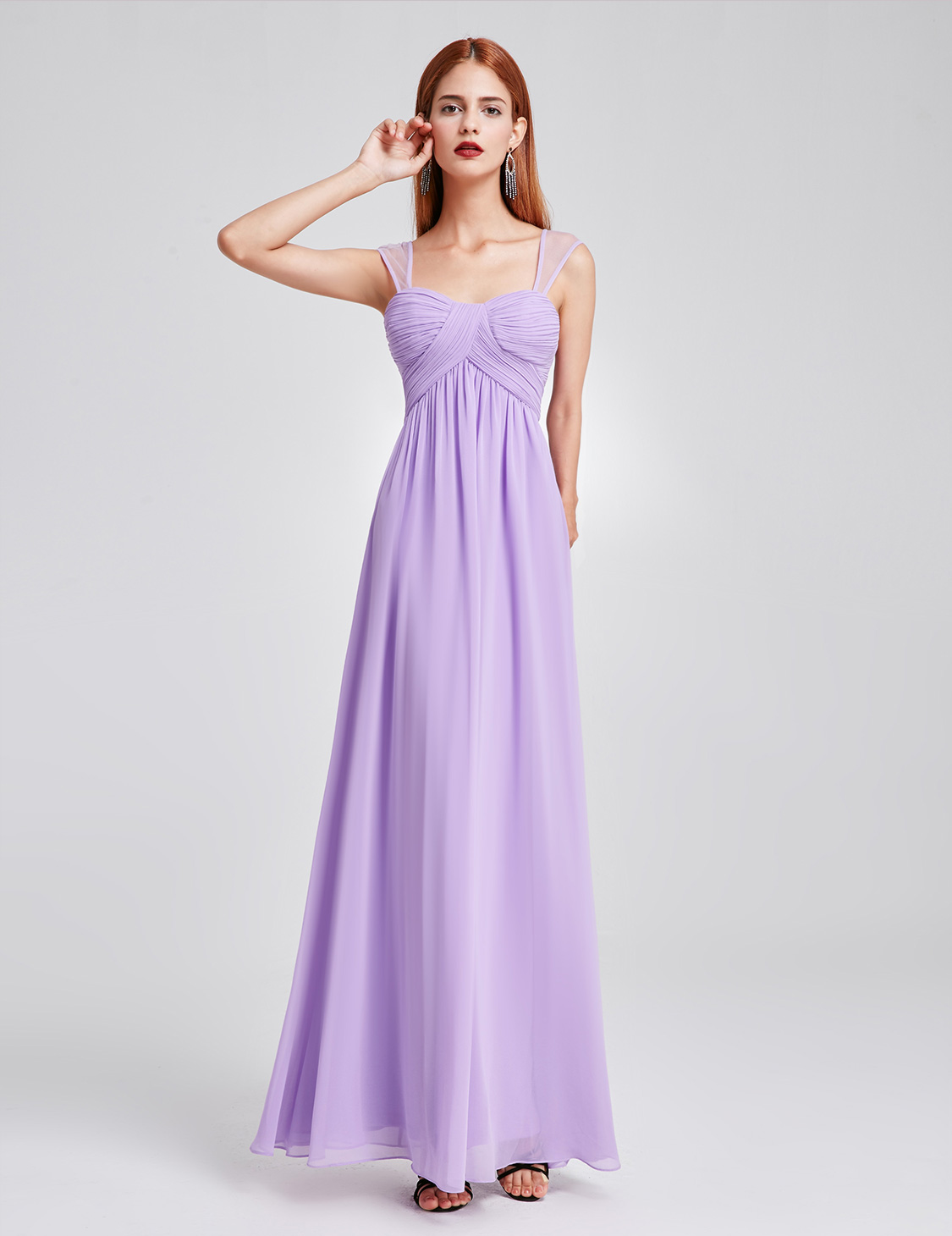 UK Lomg Women Straps Wedding Bridesmaid Dress Evening Ball Gown ...