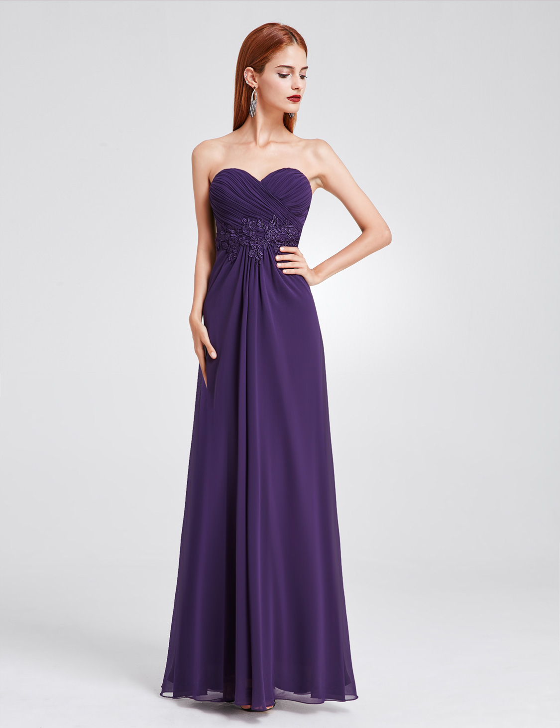 Ever-Pretty Long Strapless Formal Party Dress Backless Bridesmaid Dresses 08864