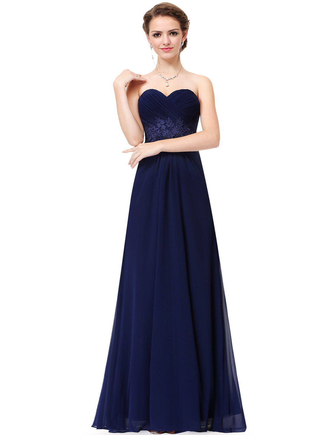 Ever-Pretty Strapless Bridesmaid Dresses Long Formal Prom Evening ...