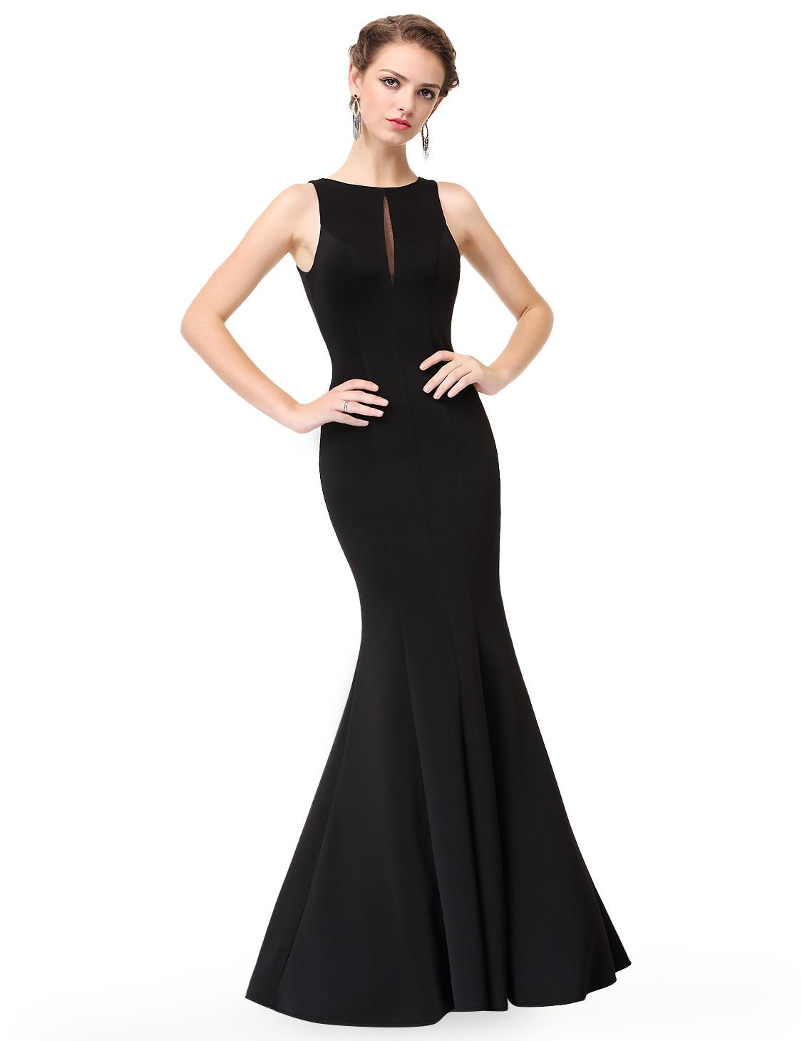 everpretty long formal evening dress backless black