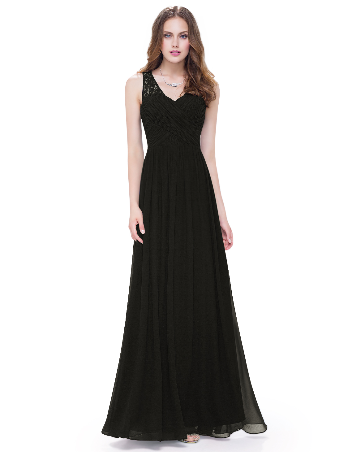 Ever-Pretty V-Neck Bridesmaid Dress Long Corset Back Evening Party ... 0106339bf8d