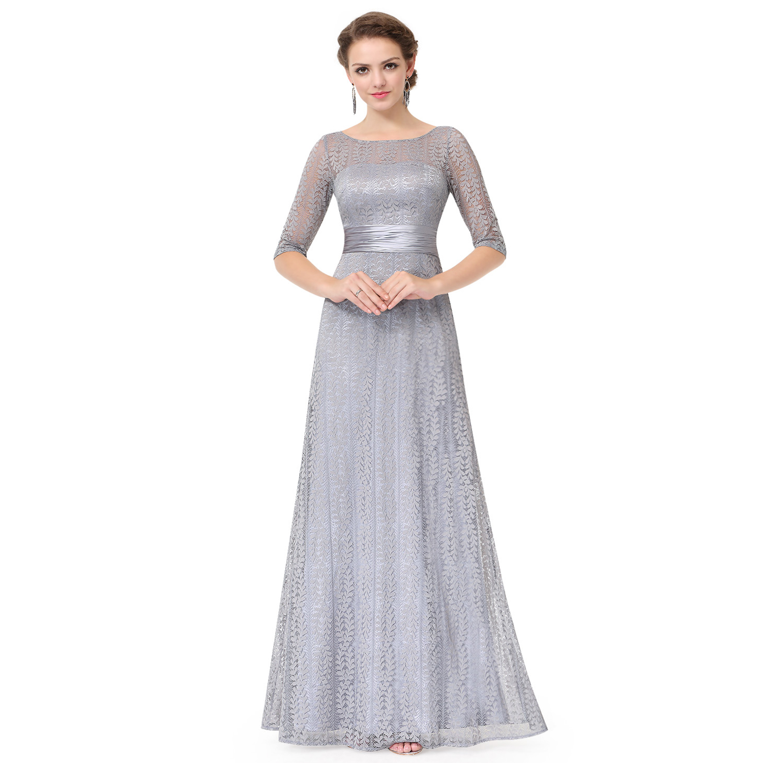 Ever-Pretty Prom Dresses Long Lace Sleeve Bridesmaid Formal Evening ...