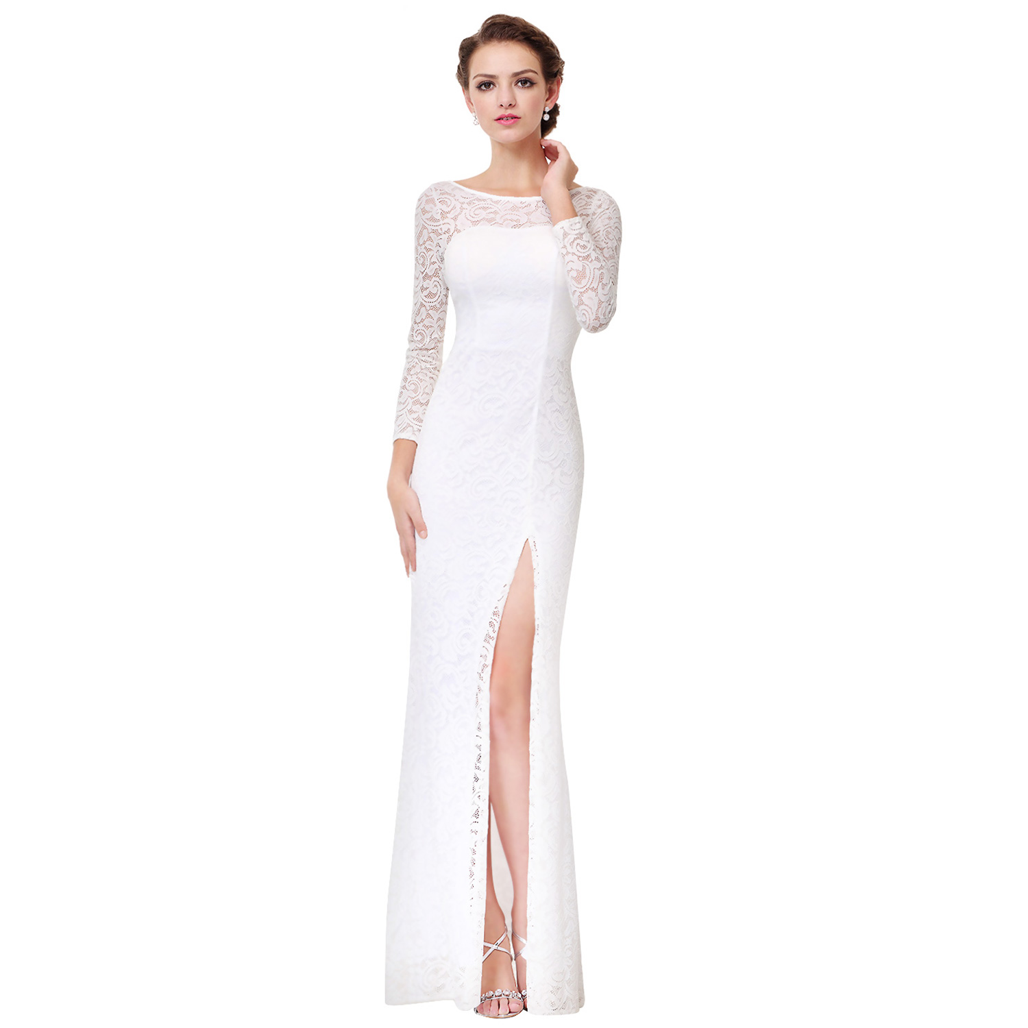 Ever Pretty Wedding Bridesmaid Dress Long Sleeve Formal