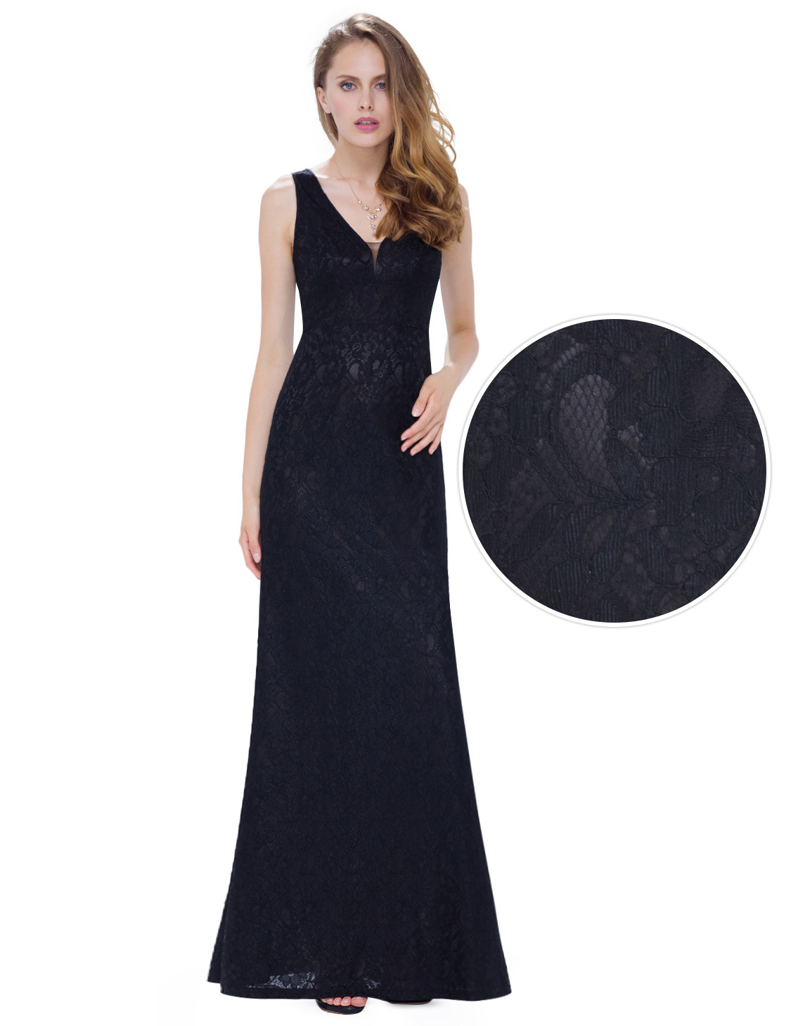 Womens Lace Evening Dresses Long V Neck Homecoming Prom Gown 08917 ...