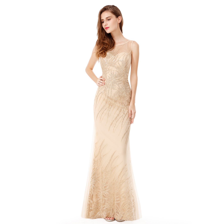 Ever-Pretty Long Elegant Mermaid Party Dresses Mesh Evening Wedding ...