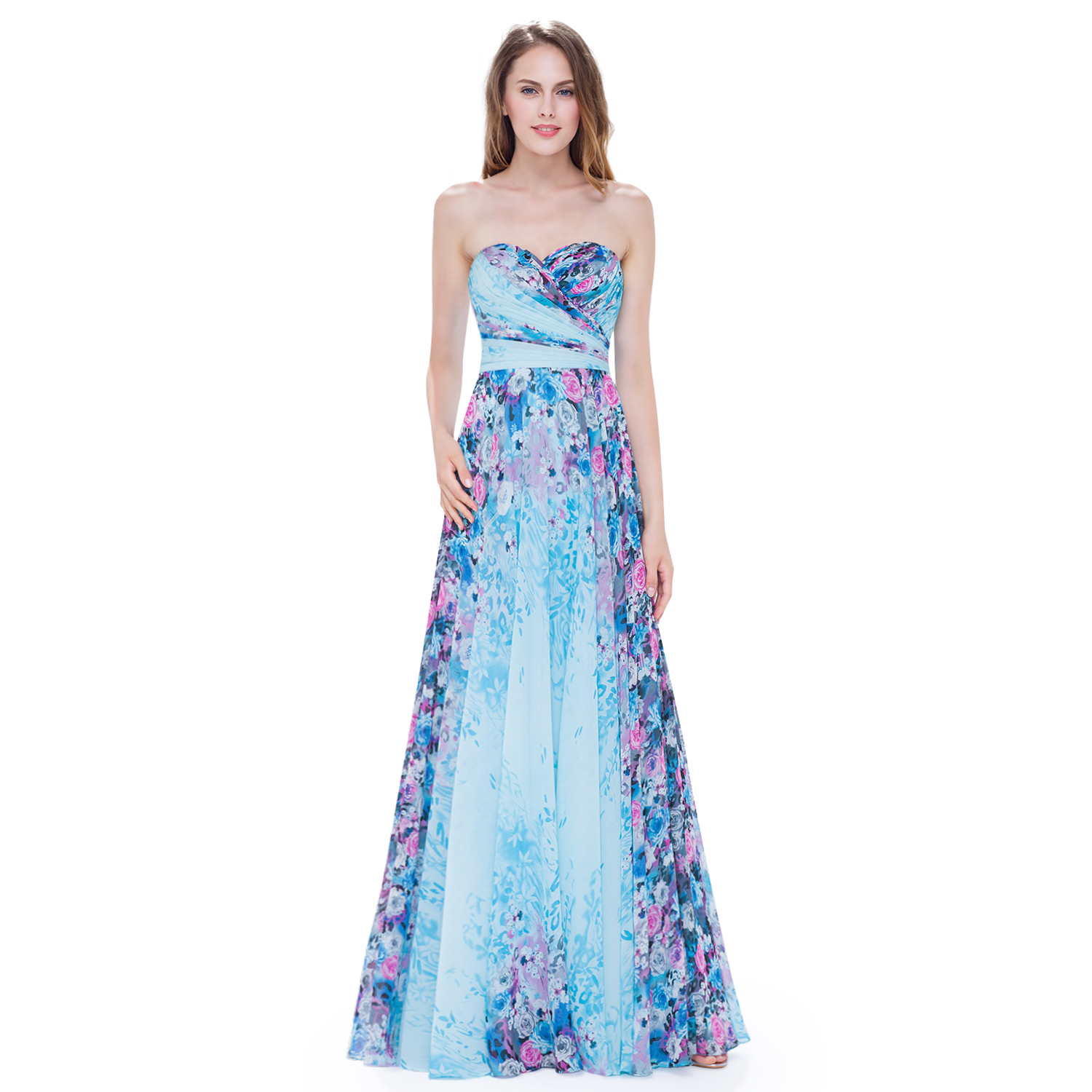 Ever pretty strapless long bridesmaid evening formal for Pretty dress for wedding