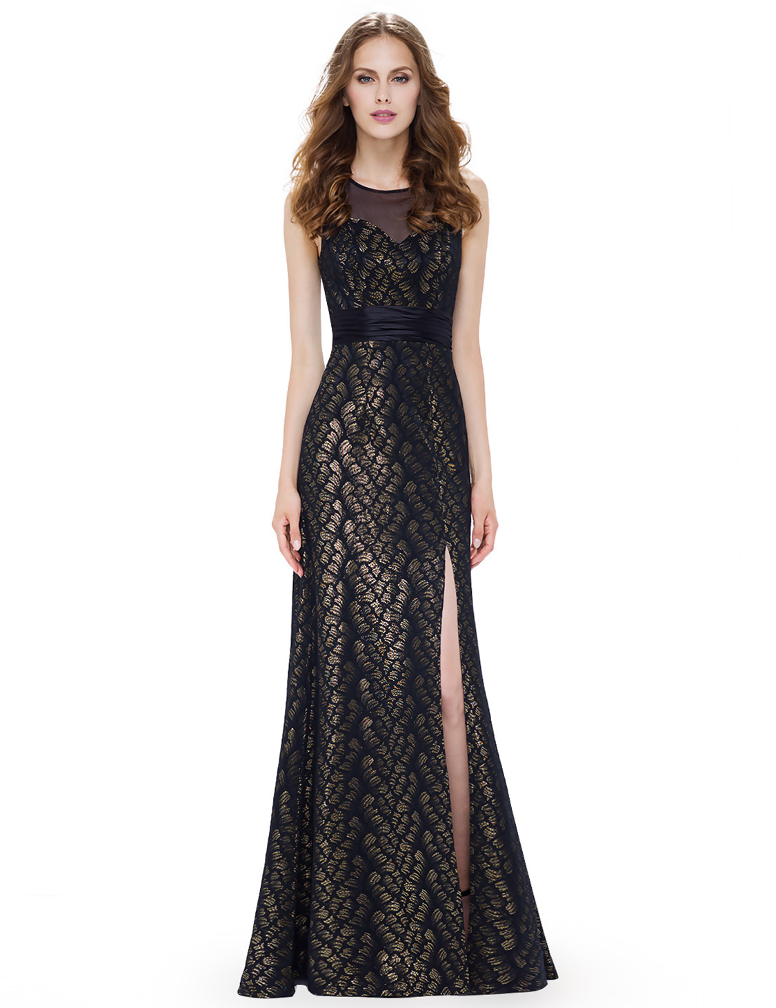 Ever-pretty Long Women Split Evening Prom Gowns Evening Party ...