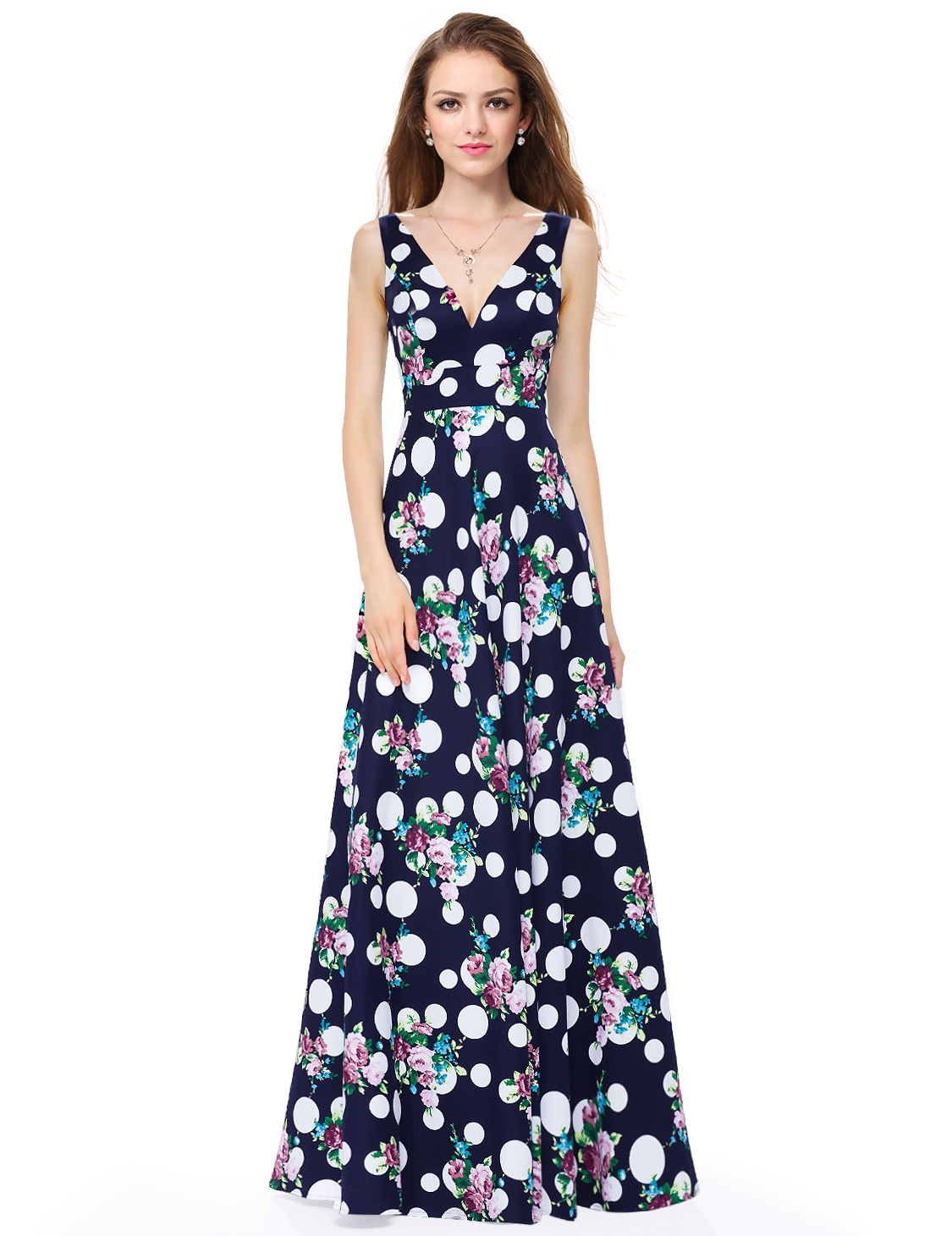 Ever-Pretty-Women-039-s-Fashion-V-neck-Sleeveless-Printed-Evening-Party-Dress-08955