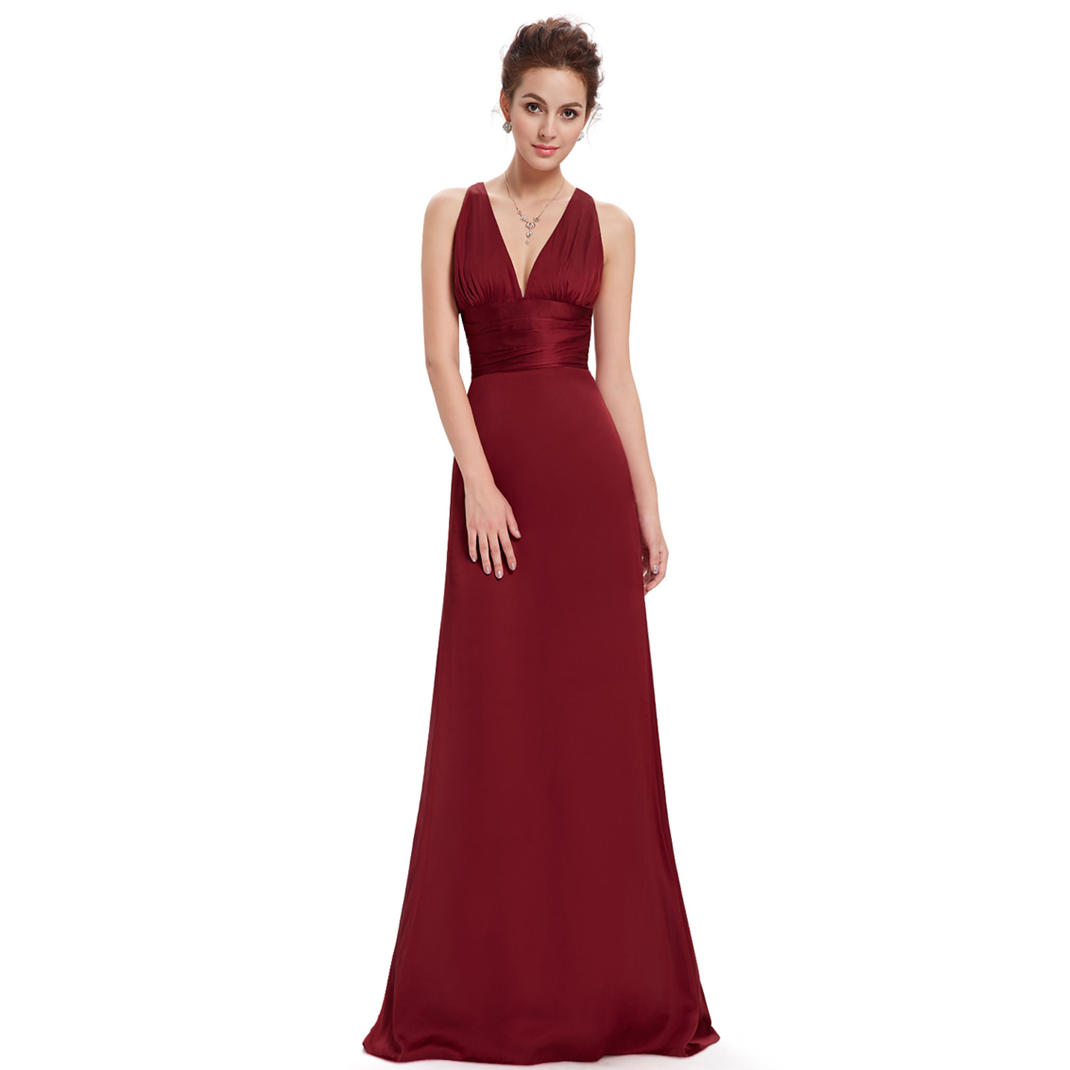 Ever-Pretty Long Formal Evening Gown Satin Bridesmaid Dresses Gowns ...