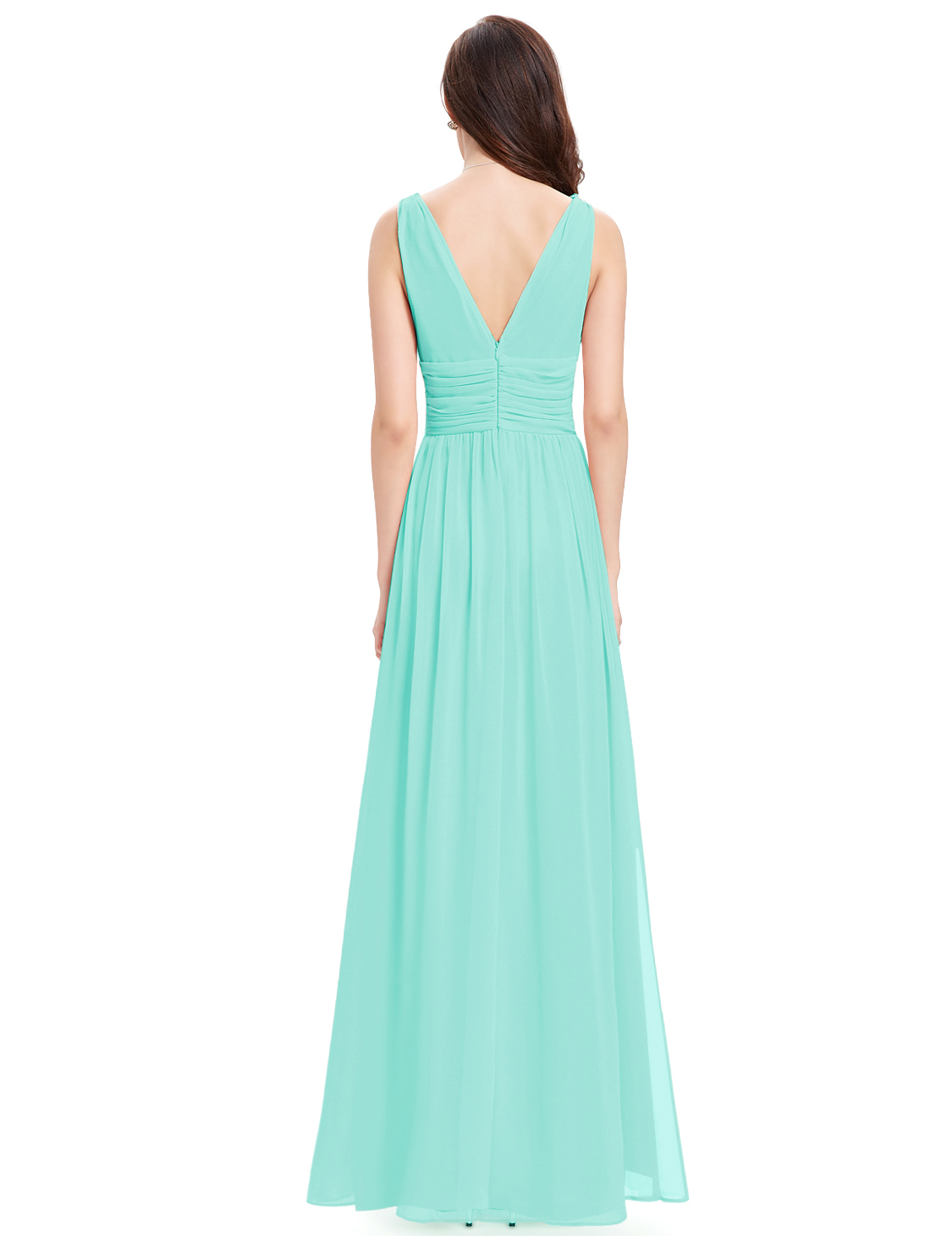 Ever-pretty UK Long Double V Neck Evening Gown Bridesmaids Maxi ...