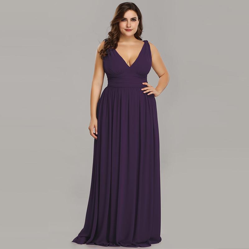 0350fe3948 Ever-Pretty US Long Chiffon Bridesmaid Dresses Formal Evening Prom ...