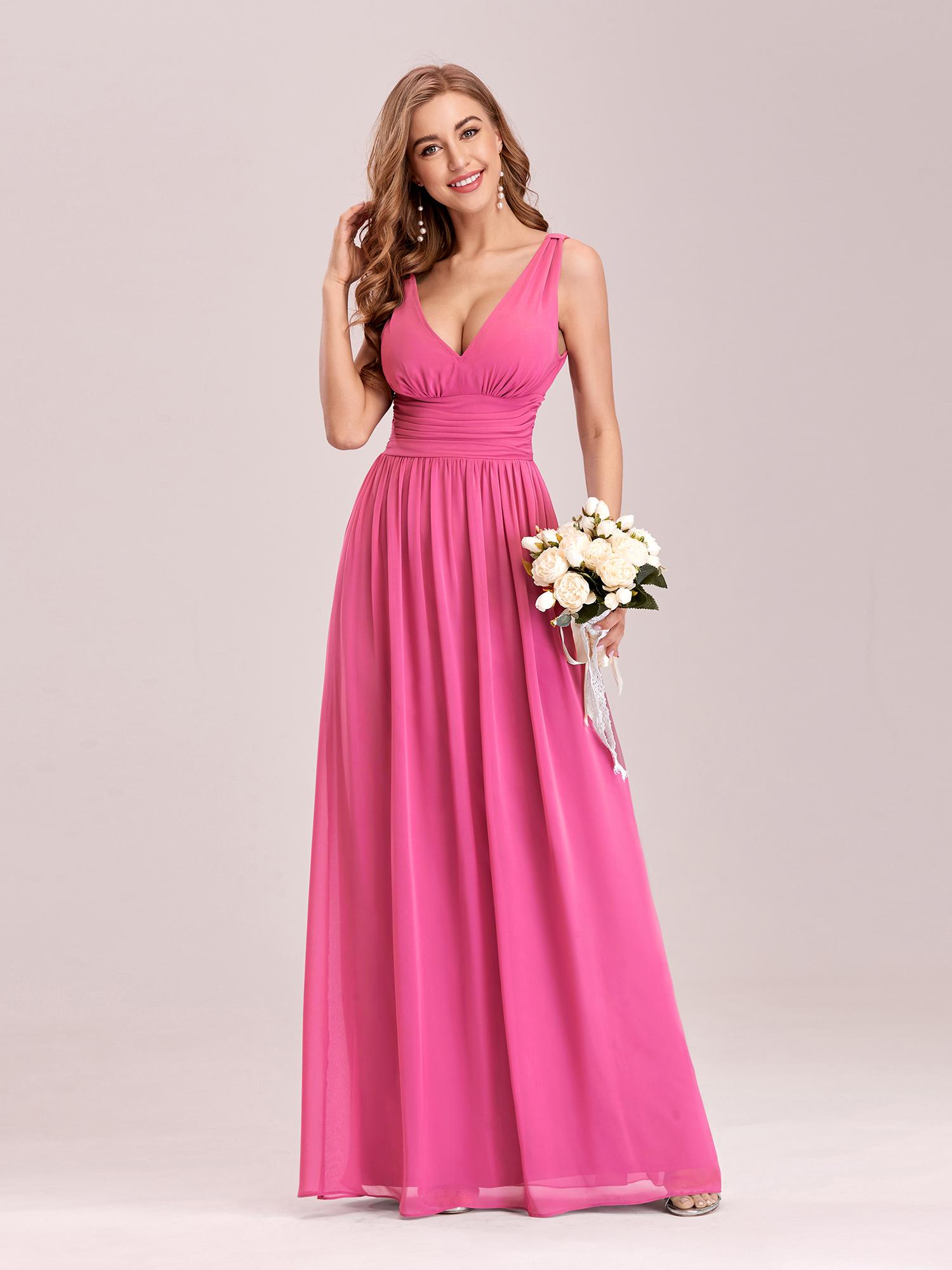 Ever-Pretty Long Bridesmaid Dress Chiffon Formal Evening Party ...