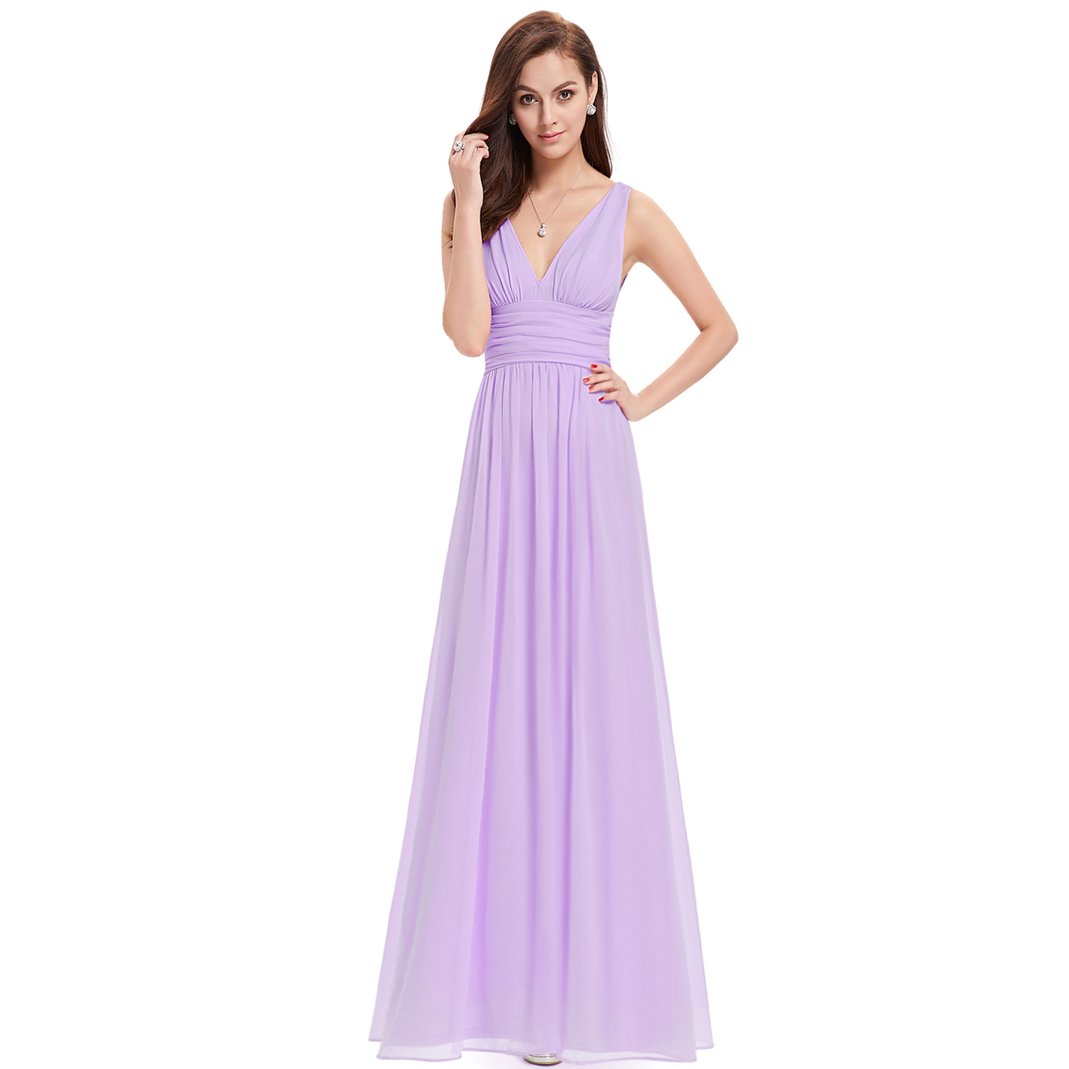 Long Chiffon Prom Dress Wedding Evening Formal Party Ball Gown ...