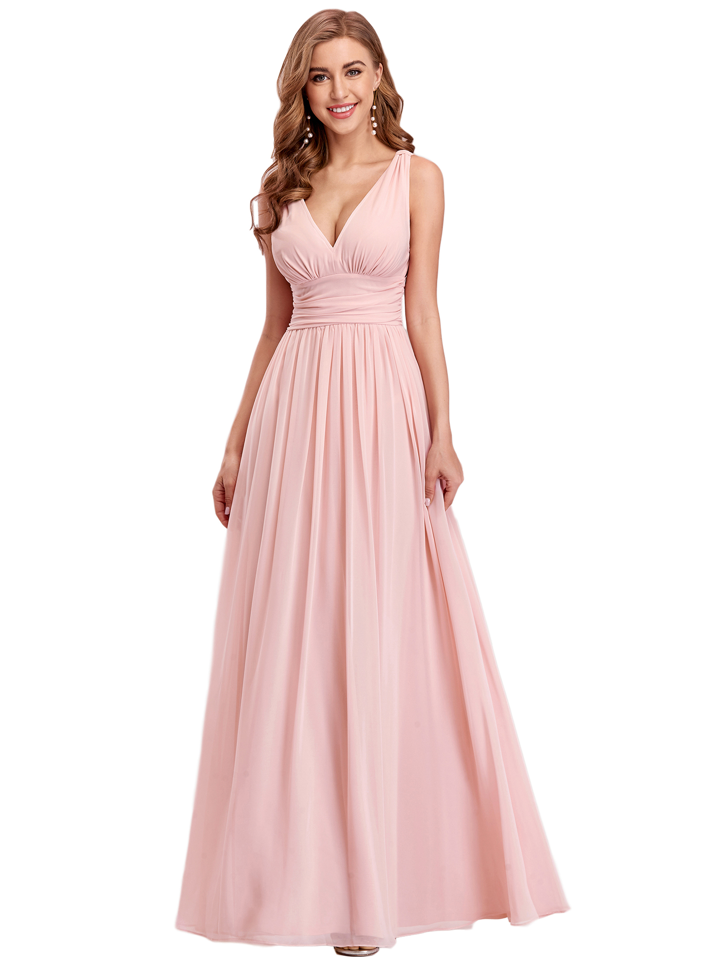 Long Bridesmaid Evening Formal Dresses V-neck Party Prom Gown 09016 ...